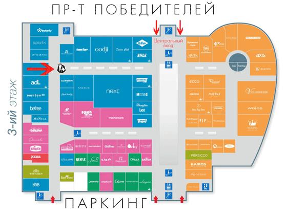 Карта ТЦ Замок