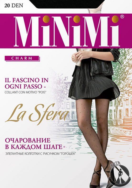 Колготки в горошек Minimi La Sfera