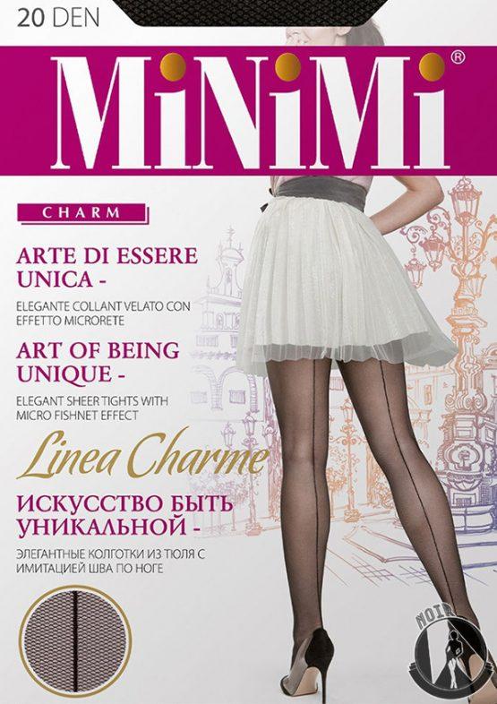 Колготки со стрелкой и имитацией сетки Minimi Linea Charme